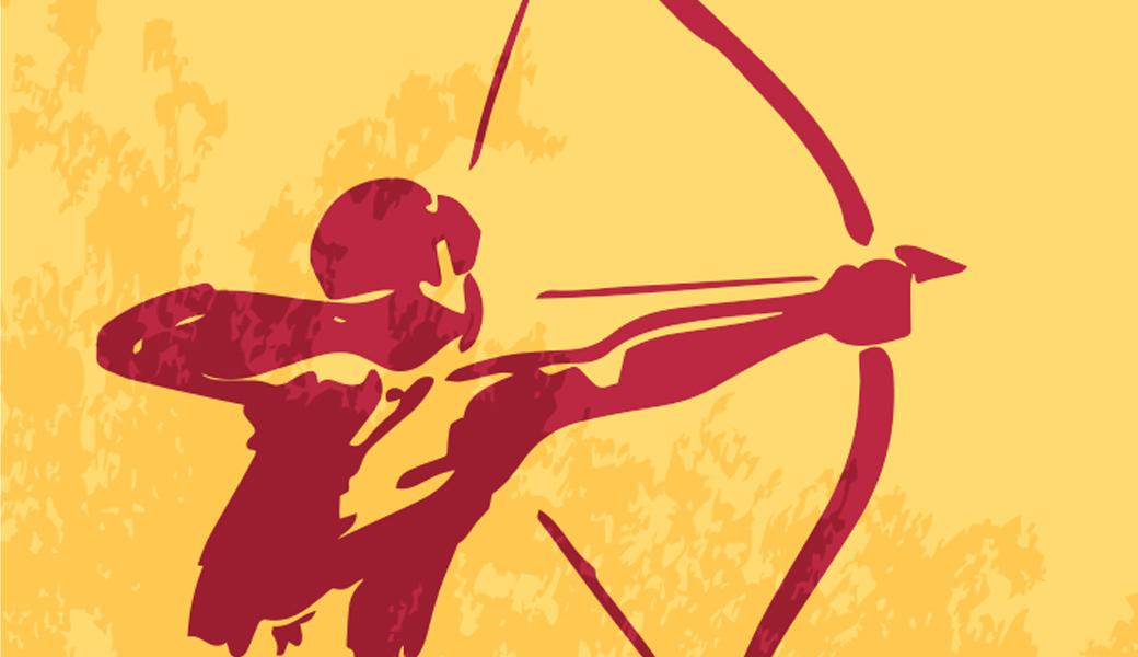 illustration of a Native American archer