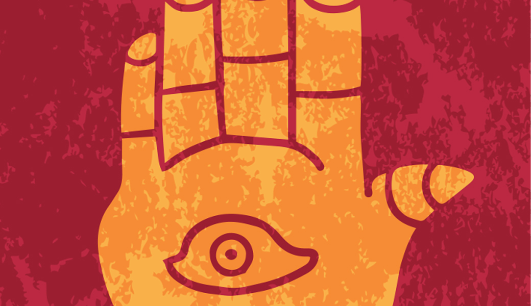 illustration of a hand with an eye in the palm
