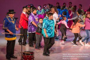 Mystic Wind Choctaw Dancers performing at the Birmingham Dance Showcase