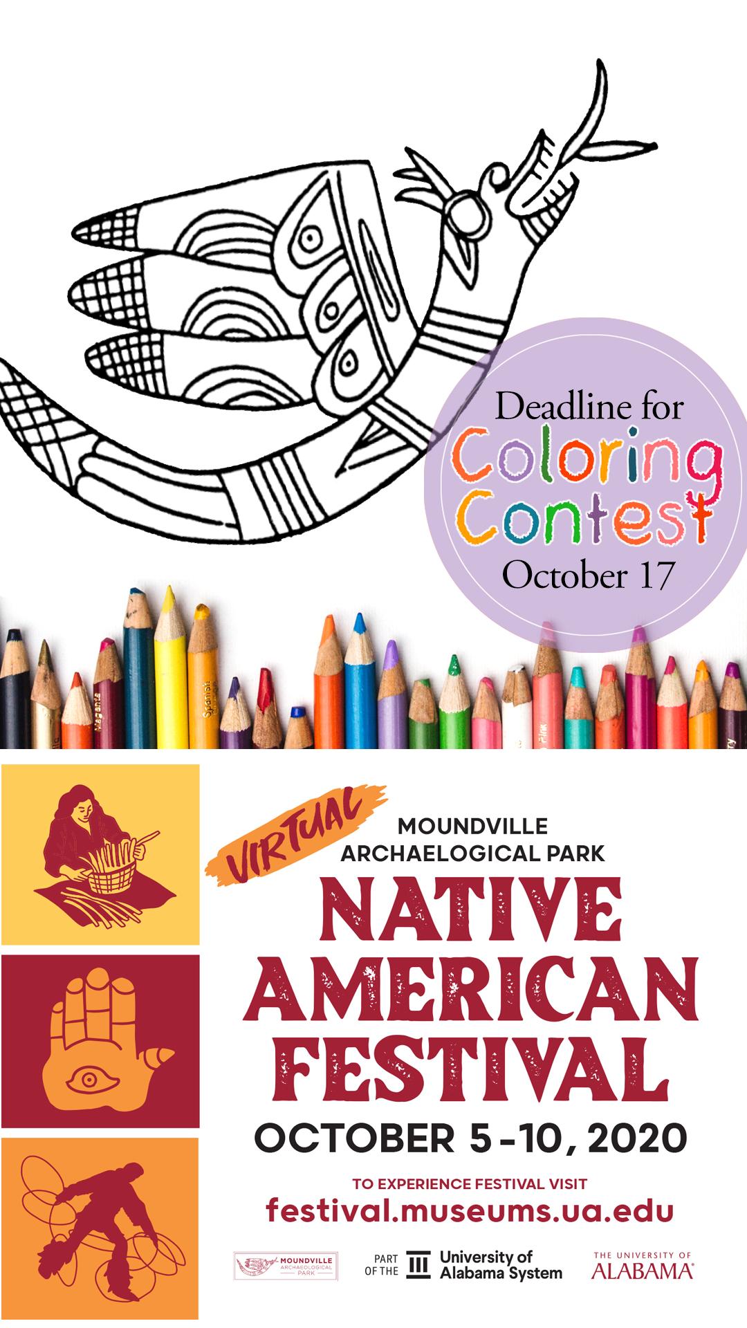 Native American Festival Coloring Contest